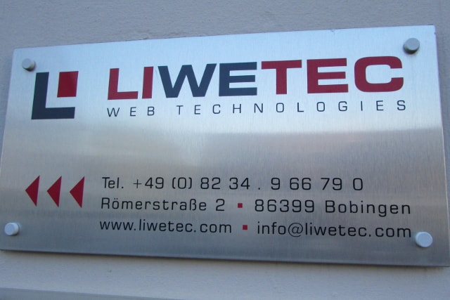 Hauptschild LIWETEC GmbH