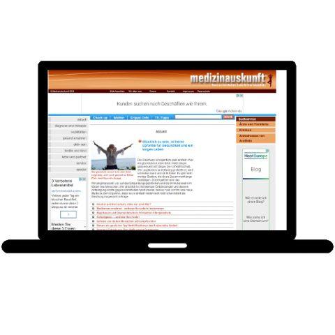 Medizin Auskunft; Referenz LIWETEC GmbH; Administration, Programmierung, Gestaltung