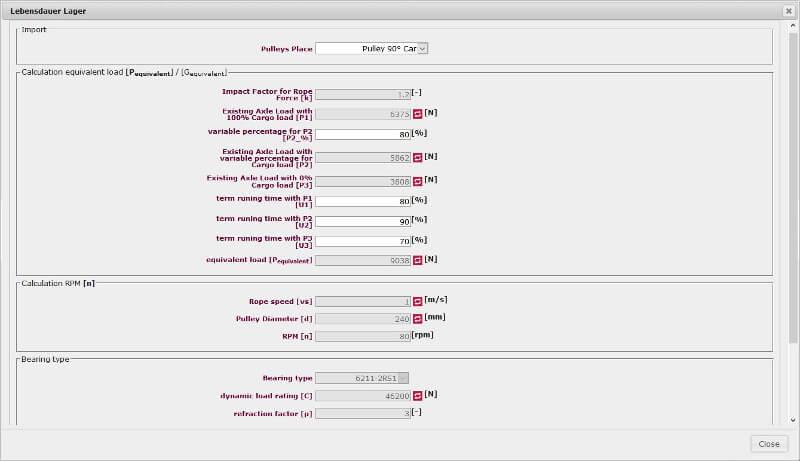 Bearing Durability Module LIWETEC GmbH